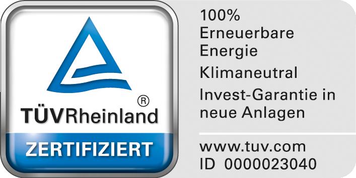 Naturstromsiegel TÜV Rheinland