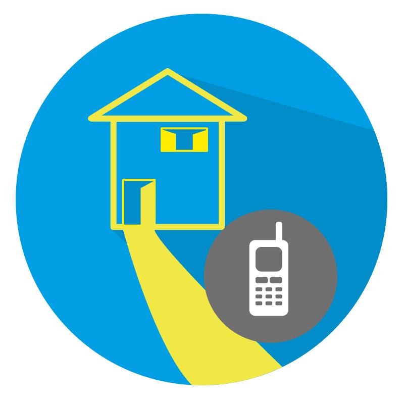 Sicherheitshinweis - Außerhalb des Hauses Bereitschaftsdienst anrufen