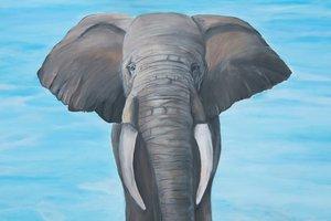 Kunstwerk Bild von Elefanten