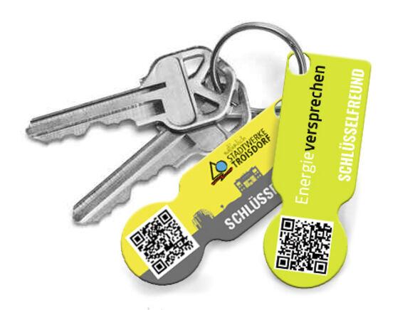 Schlüssel mit Schlüsselfinderanhänger